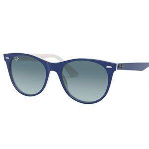 Ray Ban 2185F 1299 Blue White Sunglasses